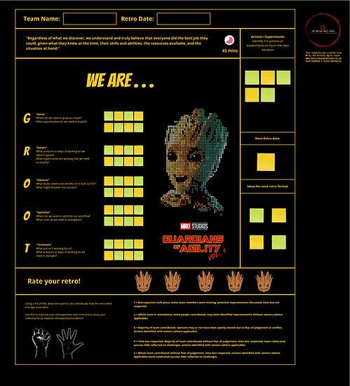 We Are Groot - Retro