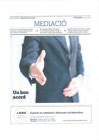 Especial Mediació al periódico de Catalunya