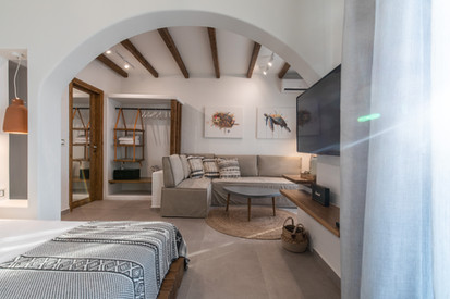 Junior suite 1, living room, Artemis hotel