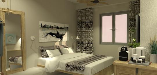 double bed, king size, boho style, agia