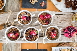 breakfast with flakes,granola and fruits