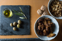 local olive oil and nuts