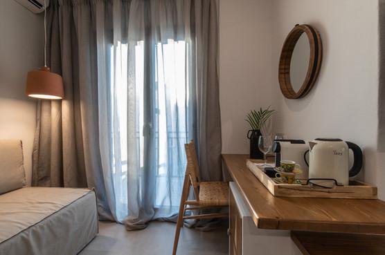 Balcony , junior suite 1, Artemis hotel, Agia Anna , Naxos island