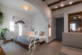 junior suite 1, bed room, artemis hotel