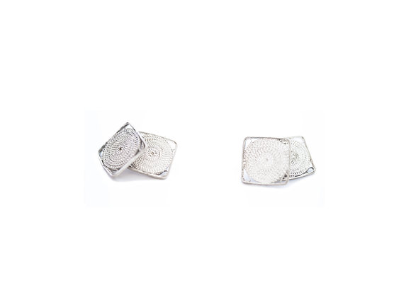 Silver filigree Cufflinks