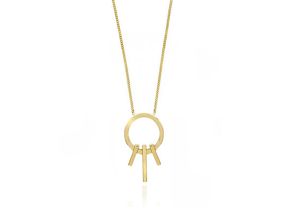 Round Triple Bar Necklace