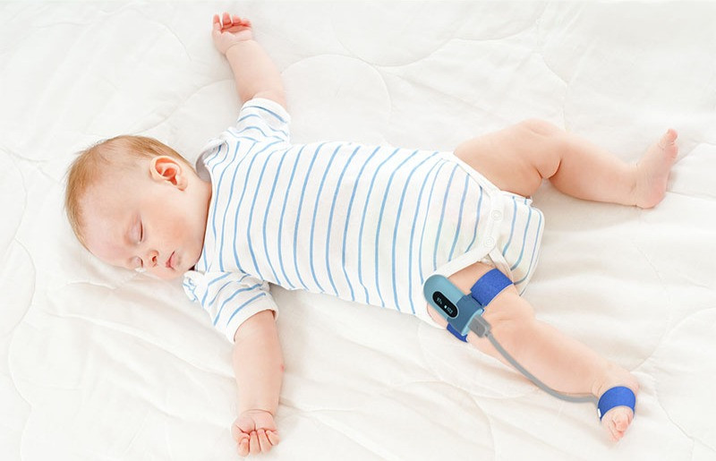 How do you use a oximeter on a baby