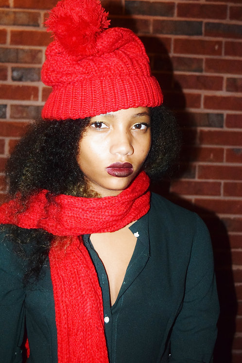 red riding hat & scarf