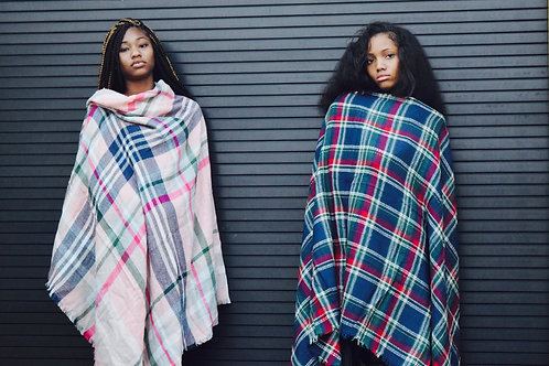pink cross shawl lm