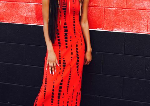 Red Stone Dress