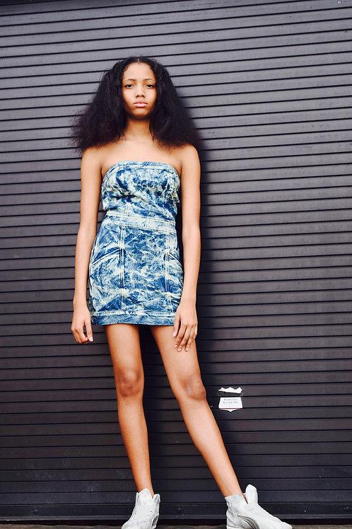 stonewash tube dress h