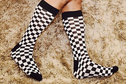checkered socks