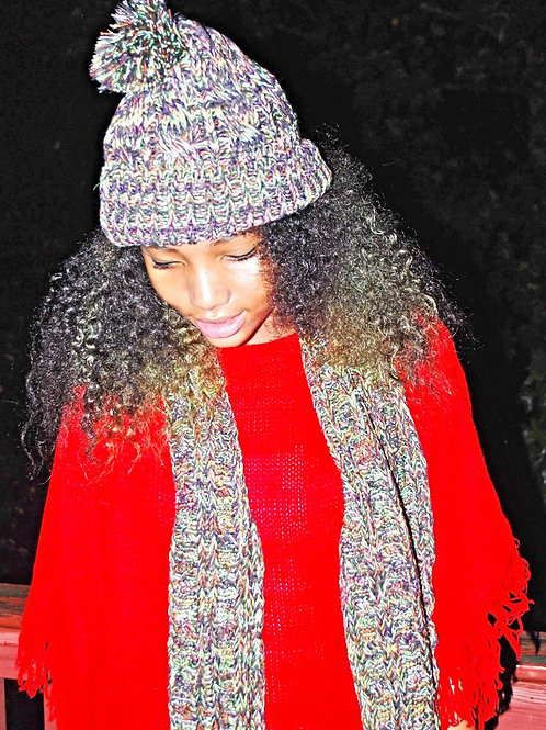 forest child scarf & hat lm