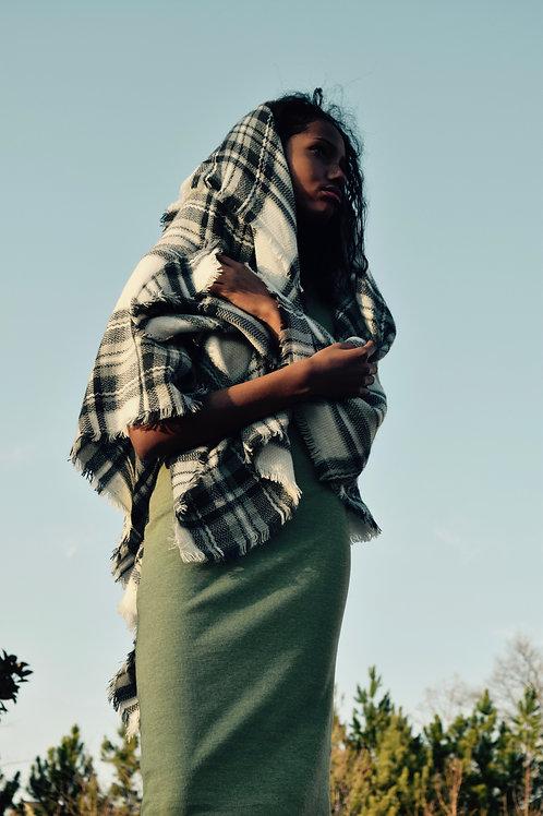 ebony & ivory cris cross shawl lm