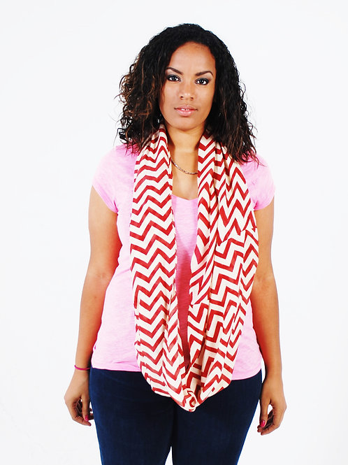red connect scarf