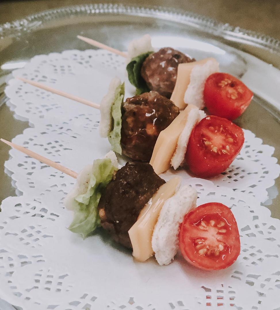 One-Bite Hamburger Appetizers