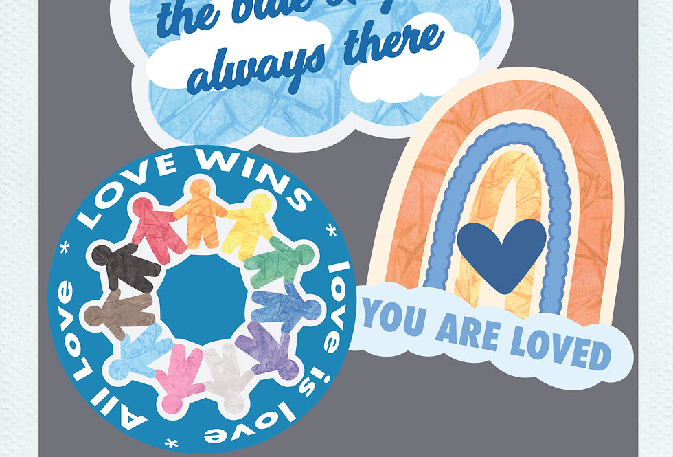 Compassion Stickers (3 Pack)