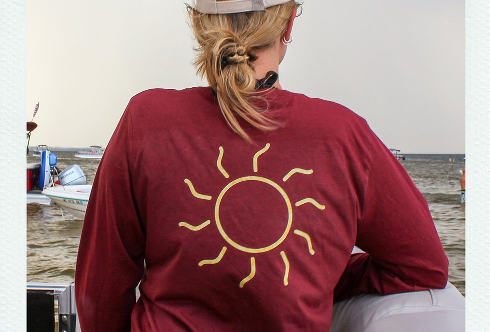 Red 'Sunshine' Long Sleeve Tee