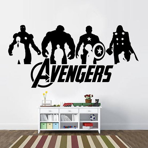 Avengers team vinyl decals for walls
