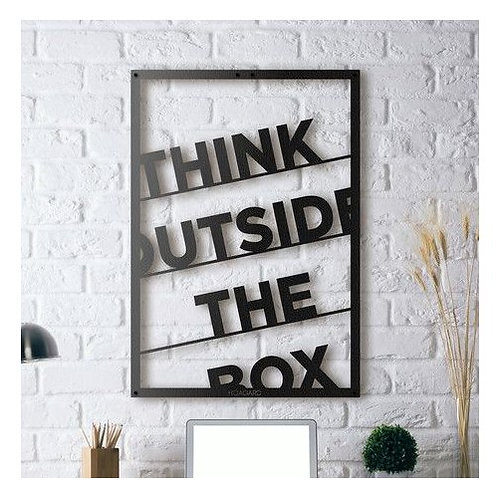 Think outside the box 3 mm wall hanging 12*18 inch