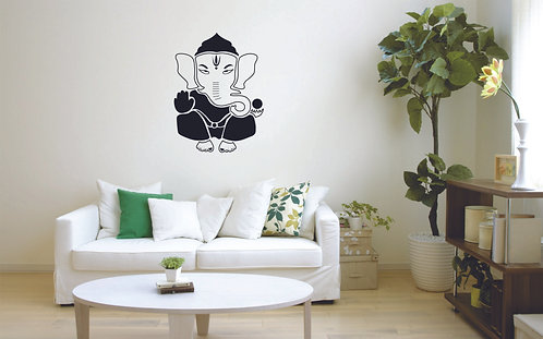 Ganesh beautiful vinyl decals for wall and cars