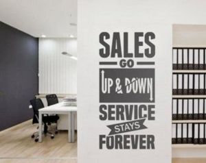 Sales and service quote vinyl for office