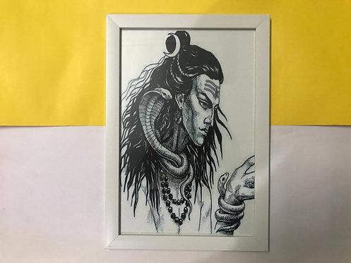 shiva sketch wall frame  size 8*12
