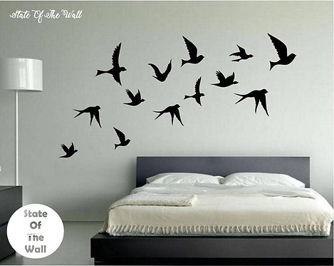 Flying birds vinyl decals for any surface