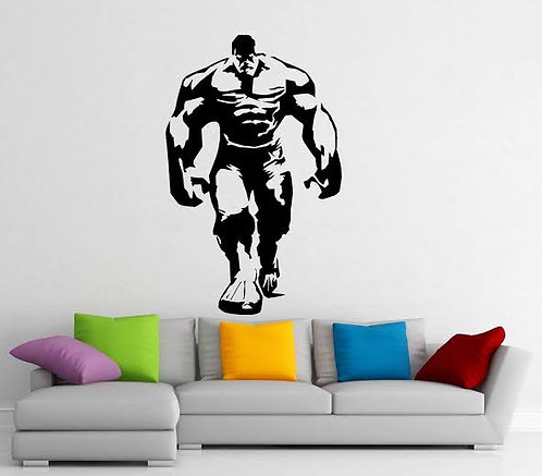 Hulk decals body building vinyl stickers