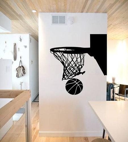 basket ball vinyl decals for sports person vinyl decals (21.75*23.15))