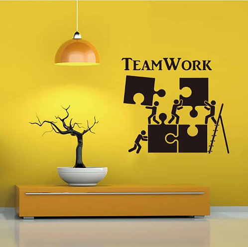 Team work office decals for walls (26.07*23.31in ) width*height