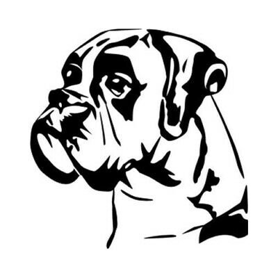 dog bulldog face vinyl decale