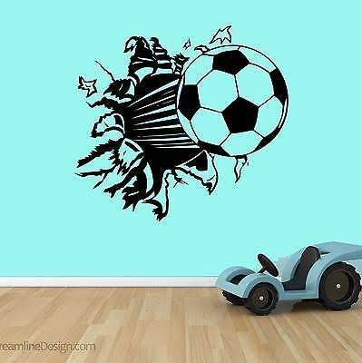 Football mirror crack sport vinyl decals for wall