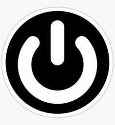 Power off sign vinyl decals