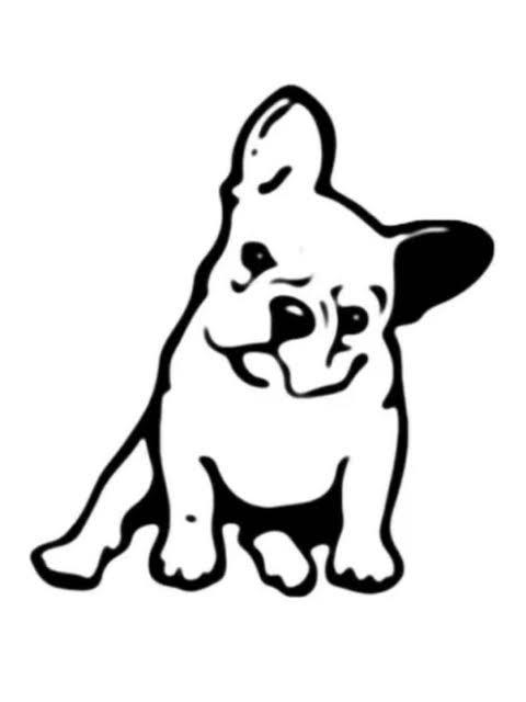 Doggy vinyl decals