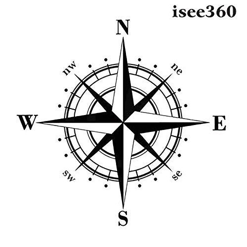 Compass decals for cars front