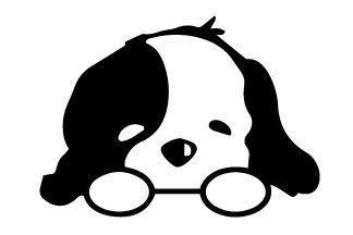 Puppy vinyl decals for laptop walls