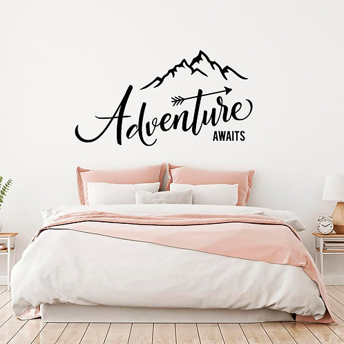 Adventure awaits stickers for bike and cars , big size recommend