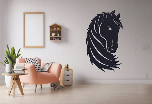 Horse face vinyl sticker for walls and cars