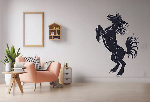 Jumping horse vinyl decals for walls
