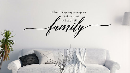 Wall family decale