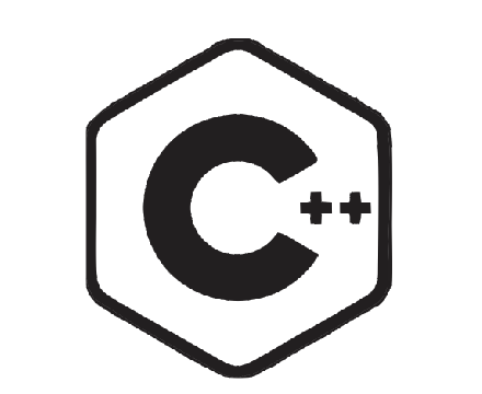 C++ language sign vinyl stickers