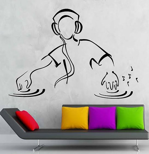 Dj artist vinyl decals for cars and wall