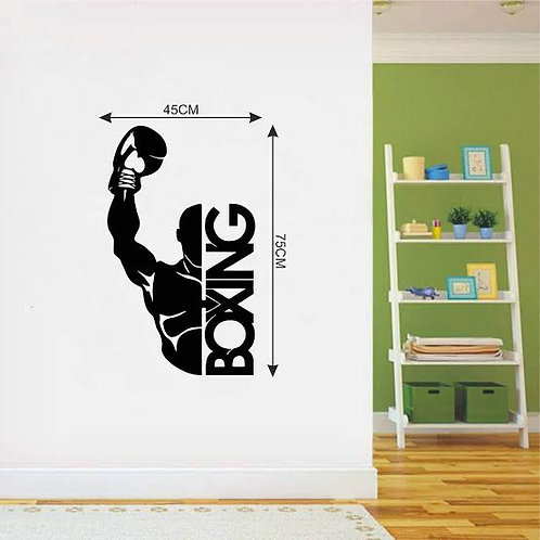 Boxing vinyl decals for gym and sports men