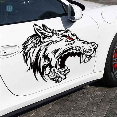 red eyes aggressive  , for bike and car vinyl decales