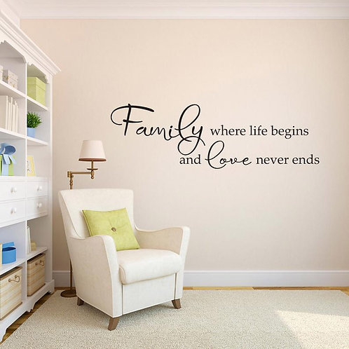 Family quote vinyl sticker for walls (24.0*7.20 in w*h)