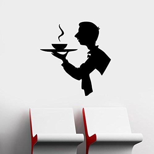 Waiter , restaurants vinyl sticker