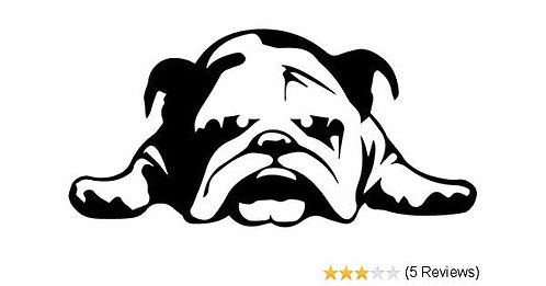 bulldog vinyl sticker for walls laptop and cars