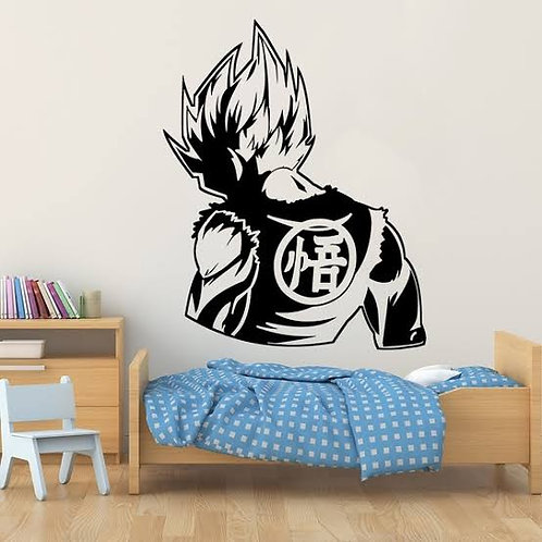 Goku cartoon vinyl decals kids bedroom