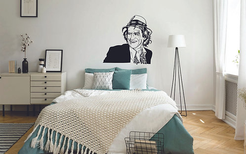 keith  richards musician vinyl decal